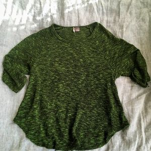 Sparkle & Fade Hunter Green Slouchy Sweater